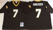 New Orleans Saints #7 Morten Andersen Black Stitched Mitchell and Ness NFL Jersey