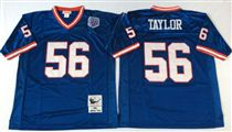 New York Giants #56 Lawrence Taylor Blue Stitched Mitchell and Ness NFL Jersey