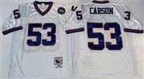 New York Giants #53 Harry Carson White Stitched Mitchell and Ness NFL Jersey