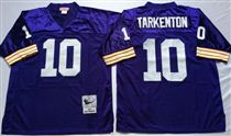 Minnesota Vikings #10 Fran Tarkenton Blue Stitched Mitchell and Ness NFL Jersey