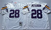 Minnesota Vikings #28 Adrian Peterson White Stitched Mitchell and Ness NFL Jersey