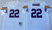 Minnesota Vikings #22 Paul Krause White Stitched Mitchell and Ness NFL Jersey