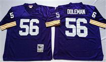 Minnesota Vikings #56 Chris Doleman Blue Stitched Mitchell and Ness NFL Jersey