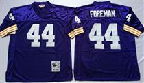 Minnesota Vikings #44 Chuck Foreman Blue Stitched Mitchell and Ness NFL Jersey