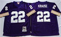 Minnesota Vikings #22 Paul Krause Bluee Stitched Mitchell and Ness NFL Jersey