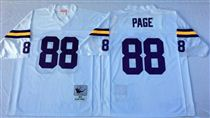 Minnesota Vikings #88 Alan Page White Stitched Mitchell and Ness NFL Jersey