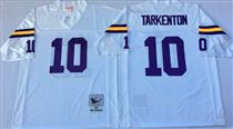 Minnesota Vikings #10 Fran Tarkenton White Stitched Mitchell and Ness NFL Jersey