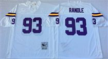 Minnesota Vikings #93 John Randle White Stitched Mitchell and Ness NFL Jersey