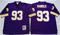 Minnesota Vikings #93 John Randle Blue Stitched Mitchell and Ness NFL Jersey