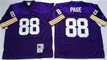 Minnesota Vikings #88 Alan Page Blue Stitched Mitchell and Ness NFL Jersey
