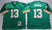 Miami Dolphins #13 Dan Marino Green Stitched Mitchell and Ness NFL Jersey
