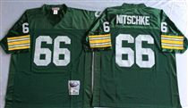 Green Bay Packers #66 Ray Nitschke Green Stitched Mitchell and Ness Jersey