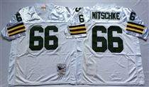 Green Bay Packers #66 Ray Nitschke White Stitched Mitchell and Ness Jersey