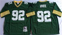 Green Bay Packers #92 Reggie White Green Stitched Mitchell and Ness Jersey