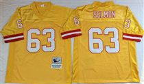 Tampa Bay Buccaneer #63 Lee Roy Selmon yellow stitched Mitchell and Ness Jersey