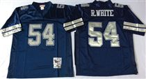 Dallas Cowboys #54 Randy White Navy Blue Stitched Mitchell and Ness NFL Jersey