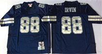 Dallas Cowboys #88 Michael Irvin Blue Stitched Mitchell and Ness NFL Jersey