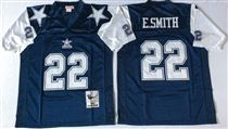 Dallas Cowboys #22 Emmitt Smith Blue Thanksgivings Stitched Mitchell and Ness NFL Jersey