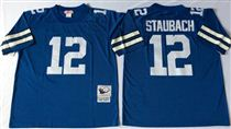Dallas Cowboys #12 Roger Staubach Blue Stitched Mitchell and Ness Jersey