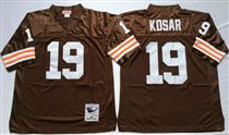 Cleveland Browns #19 Bernie Kosar Brown Short-Sleeved Stitched Mitchell and Ness Jersey