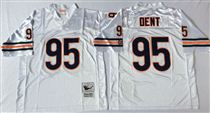 Chicago Bears #95 Richard Dent White Stitch Mitchell and Ness NFL Jersey