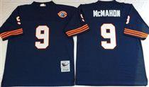 Chicago Bears #9 Jim McMahon Blue Stitch Mitchell and Ness NFL Jersey