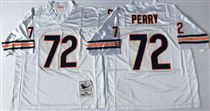 Chicago Bears #72 William Perry White Stitch Mitchell and Ness NFL Jersey