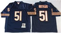 Chicago Bears #51 Dick Butkus Blue Stitch Mitchell and Ness NFL Jersey