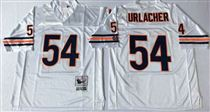 Chicago Bears #54 Brian Urlacher White Stitch Mitchell and Ness NFL Jersey