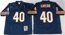 Chicago Bears #40 Gale Sayers Blue Stitch Mitchell and Ness NFL Jersey