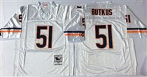 Chicago Bears #51 Dick Butkus White Stitch Mitchell and Ness NFL Jersey