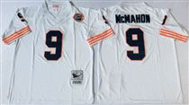 Chicago Bears #9 Jim McMahon White Stitch Mitchell and Ness NFL Jersey