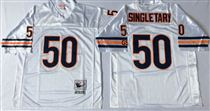 Chicago Bears #50 Mike Singletary White Stitch Mitchell and Ness NFL Jersey