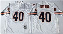Chicago Bears #40 Gale Sayers White Stitch Mitchell and Ness NFL Jersey