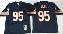 Chicago Bears #95 Richard Dent Blue Stitch Mitchell and Ness NFL Jersey