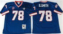 Buffalo Bills #78 Bruce Smith Blue Stitched Mitchell and Ness Jersey