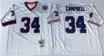 Buffalo Bills #34 Thurman Thomas White Stitched Mitchell and Ness Jersey