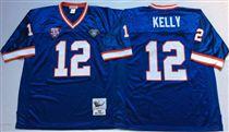Buffalo Bills #12 Jim Kelly Blue Stitched Mitchell and Ness Jersey