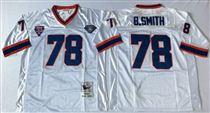 Buffalo Bills #78 Bruce Smith White Stitched Mitchell and Ness Jersey