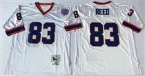 Buffalo Bills #83 Andre Reed White Stitched Mitchell and Ness Jersey