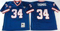 Buffalo Bills #34 Thurman Thomas Blue Stitched Mitchell and Ness Jersey