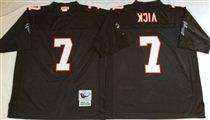 Atlanta Falcons #7 Michael Vick Black Stitched Mitchell and Ness Jersey