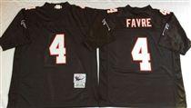 Atlanta Falcons #4 Brett Favre Black Stitched Mitchell and Ness Jersey