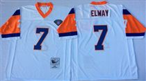 Denver Broncos #7 John Elway White 75TH Stitched Mitchell and Ness NFL Jersey