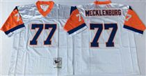Denver Broncos #77 Karl Mecklenburg White 75TH Stitched Mitchell and Ness NFL Jersey
