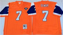 Denver Broncos #7 John Elway Orange 75TH Stitched Mitchell and Ness NFL Jersey
