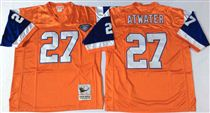 Denver Broncos #27 Steve Atwater Orange 75TH Stitched Mitchell and Ness NFL Jersey