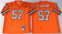 Denver Broncos #57 Tom Jackson Orange Stitched Mitchell and Ness NFL Jersey