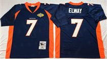 Denver Broncos #7 John Elway Blue Super Bowl Stitched Mitchell and Ness Jersey
