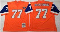 Denver Broncos #77 Karl Mecklenburg Orange 75TH Stitched Mitchell and Ness NFL Jersey
